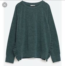 Zara sweater with side slits and frills size L