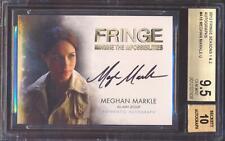 2012 Cryptozoic FRINGE Duchess Meghan Markle Black Ink Auto BGS 9.5/10 GEM MINT