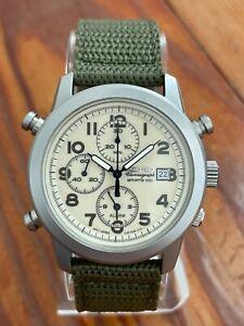 March 2007 Vintage Seiko Quartz Chronograph Watch 7T32 7D99 Military likeSNE139