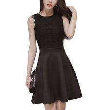 Lace Dress Elegant Women Short Prom Office Slim Party Dresses Summer Casual