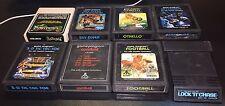 Atari Lot of 8 with Manuals Combat 3D Tic Tac Toe Asteroids Othello Sky Diver