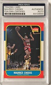 1986 Fleer Maurice Cheeks Philadelphia 76ers Signed Auto Card PSA/DNA Slabbed