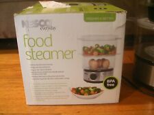 NESCO ELECTRIC 5 QT FOOD STEAMER / SINGLE & DOUBLE STACK WITH RICE BOWL ST-25F
