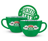 FRIENDS CENTRAL PERK 22oz CAPPUCCINO MUG & STENCIL NEW GIFT BOXED 100% OFFICIAL
