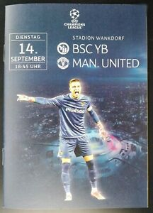 official Programme UCL 14.9.2021 BSC Young Boys vs Manchester United