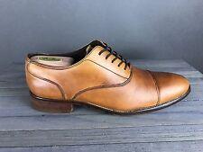Men's Cole Haan Williams British Tan Cognac Leather Cap Toe Oxford Dress 8.5 M