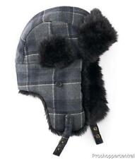 f89331a06b7d7 Apt. 9 Men Winter Accessories Plaid Trapper Hat Grey black One Size Fits All