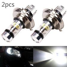 2x H4 LED Blanco de Alto Voltaje Alto/Luz Cruce Niebla Conducción Bombillas