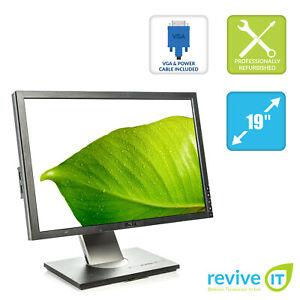 """Dell Ultrsharp 1909W 19"""" 1440x900 16:10 TFT Widescreen Monitor VGA DVI - Grade B"""
