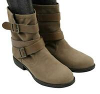 Aeropostale Womens Ladies Taupe Buckle Ankle Boots Size 8M