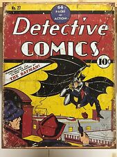 Detective Comic No:27 Cover Officiall Vintage Retro Metal Tin Sign Poster Decor