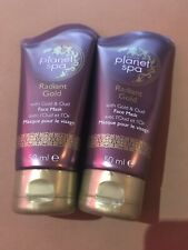 NEW AVON PLANET SPA RADIANT GOLD FACE MASK WITH GOLD & OUD 2X 50ml