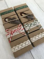 Christmas Favours Guest Gift Eco Friendly Handmade Soap Rustic Plastic Free