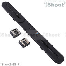Camera Holder/Flash Bracket+2*Hot Shoe Mount Adapter for Nikon SB910 SB900 SB800