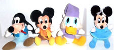Disney's CHRISTMAS CAROL Lot of 4 Plush Mickey Minnie Goofy Uncle Scrooge