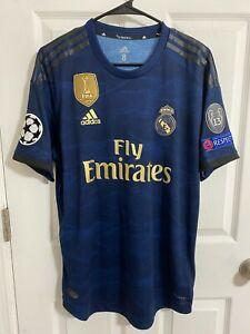 2019 Real Madrid Match Worn Shirt Eden Hazard Player Issue Jersey Belgium Rare