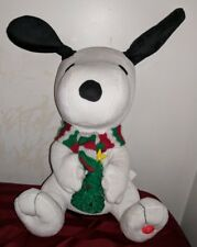 Gemmy Snoopy Peanuts Christmas Animated musical PLAYS MUSIC LIGHTS UP MOVES EARS