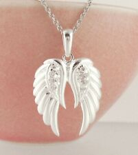 Angel Wings Pendant ONLY - Prayer Guardian Gift Sterling Silver wh104