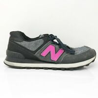 New Balance Womens 574 WL574W Gray Black Running Shoes Lace Up Low Top Size 10 B