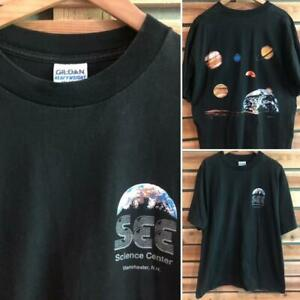 VTG 90s SEE Science Center Manchester Planet Solar System Graphic T Shirt XL