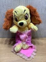Disney Babies Lady And The Tramp Plush Soft Toy Blanket Collectable Dog Puppy