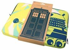 "Official Doctor Who Tardis Dalek Laptop Case Cover 15"" Laptop Bag Green"