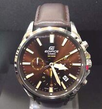 Casio Edifice Chronograph  Leather Strap Men's Watch EFV-510L-5AV