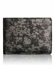 TUMI CHAMBERS DOUBLE BILLFOLD WITH ID RFID LEATHER WALLET GUNMETAL#012634GDP-NWT