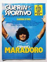 GUERIN SPORTIVO 25-1985 MARADONA VINCE GUERIN D'ORO CALCIOMONDO REAL MADRID