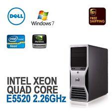 Dell Precision T5500 Workstation 1x XEON 2.26 GHz 12GB 500GB Windows 7 Pro