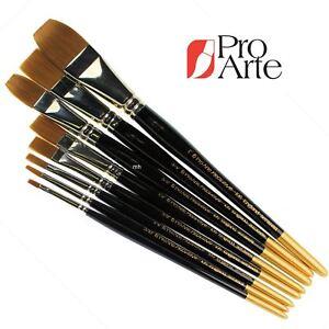 Pro Arte Series 106 Prolene One Stroke Flat Brush Artists watercolour Brushes