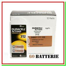 batterie per apparecchi acustici 312 duracell hearing aid 60 pile per protesi