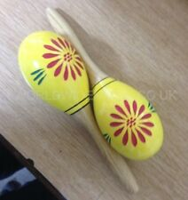 Pair of Performance Percussion Wooden Maracas - Brand New Boxed.