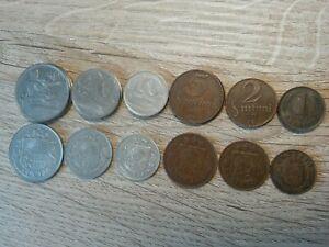 Latvia set of 6 coins 50+20+10+5+2+1 santim 1922-1939 Price for one set