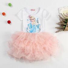 NEW Frozen Princess Elsa Tutu Dress Pageant Party Dress Size 1-7 k32