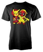 Pokey Pikachu Deadpool Mashup Adult T Shirt
