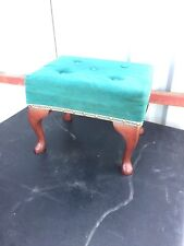 Vintage Traditional Foot Stool Turquoise Top 1/6/U/LB