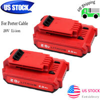 2 x For PORTER CABLE PCC680LP PCC685L PCC740B 20Volt Max Lithium-Ion 20V Battery