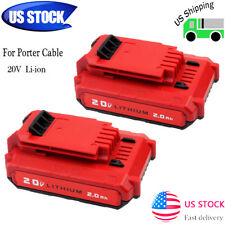 2 x For PORTER CABLE PCC680LP PCC685L PCC740B 20Volt Max Lithium-Ion 20V Battery