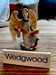 Vintage WEDGWOOD Coalport Nativity Collection Angel with Banner 1998 Christmas