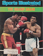 "Sports Illustrated September 25, 1978 ""The Champ Again"" Muhammad Ali"