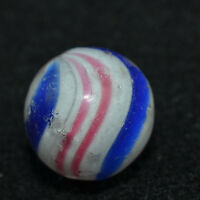 "Peppermint Swirl Marble 11/16"" Rare Antique German Handmade  MAR 204"