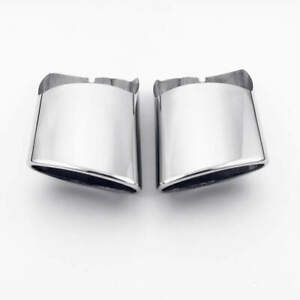 Pair Stainless Steel Exhaust Muffler Tips for Mercedes Benz W204 E300 C300 C350