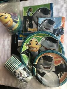 Shark Tales Tableware: Plates, Napkins, Cups, Tablecover, Tattoos