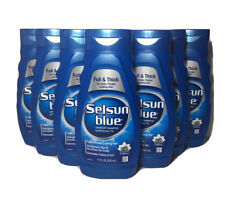 Selsun Blue Full & Thick Dandruff Shampoo 11oz Pyrithione Zinc Caffeine Lot of 7
