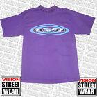 VISION STREET WEAR Ovalado Logo Custom Camiseta Morado De los años 80 Skate