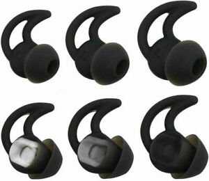 3 Pairs - GENUINE Bose SoundSport Free Wireless  Eartips Earbuds Tips - BLACK