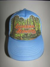 Vintage California Redwoods Adjustable Baby Blue Mesh Trucker Hat