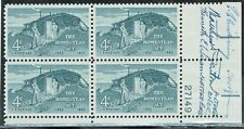 Rare Autographed US Homestead Issue (No. 1198) Plate Block (4) - MNH, OG