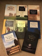LOT 8 NICHOLAS SPARKS HC BOOKS Rescue, Safe Haven, Best of Me +some 1st editions